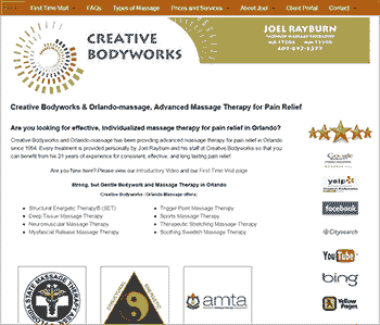 MyOrg customer - Creative Bodyworks & Orlando-massage, Advanced Massage Therapy for Pain Relief